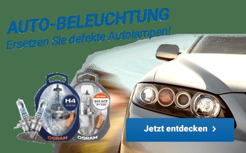 Auto-Beleuchtung - Ersetzen Sie defekte Autolampen!