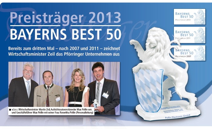 Pollin Electronic Preisträger Bayerns Best 50